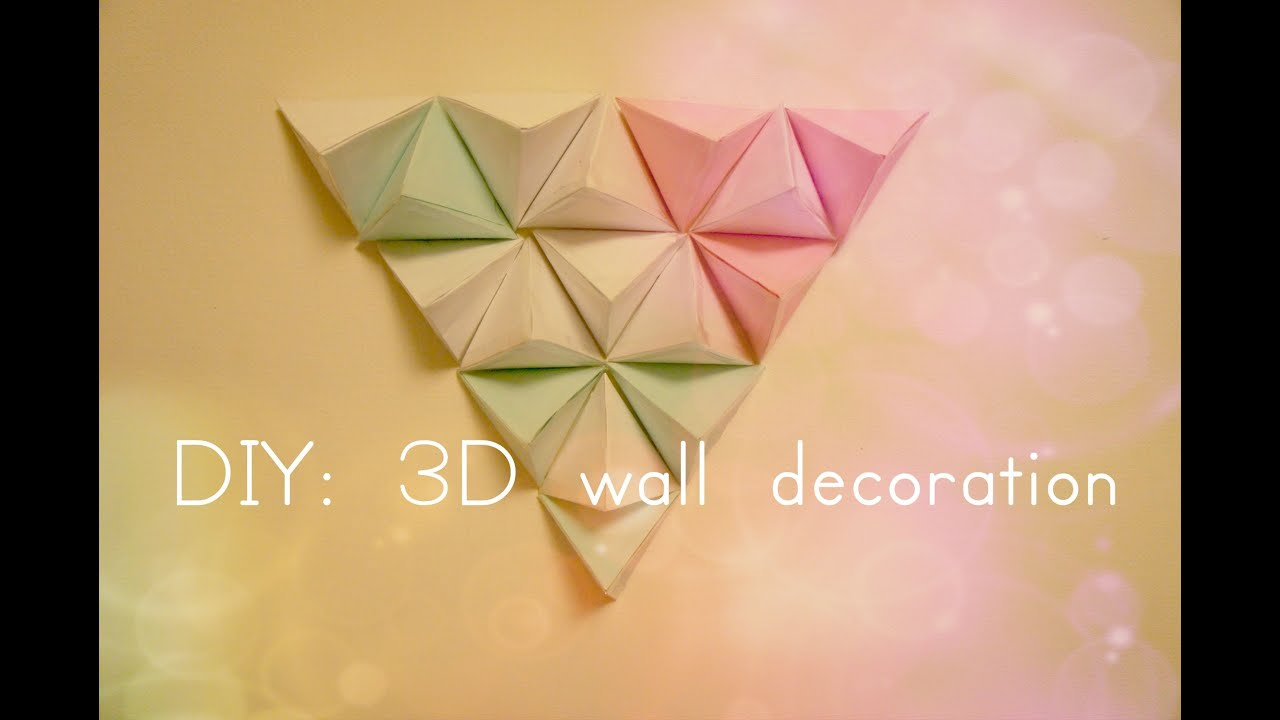 DIY: 3D wall decoration - YouTube