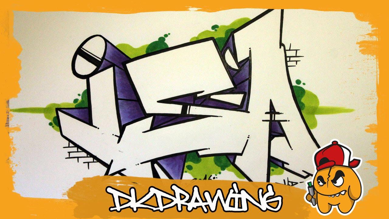 How to draw graffiti names isa 23