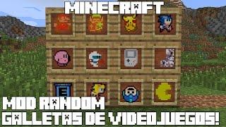 Minecraft MOD RANDOM! GALLETAS DE VIDEOJUEGOS! Retro Cookies Mod Español!