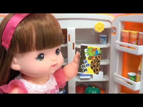 Japan Baby Doll & Pororo Refrigerator, Tayo The Little Bus Toys ☆ Vegetables & Fruit Cut Play