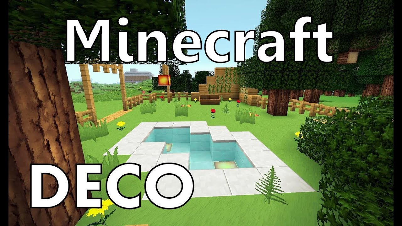 Minecraft comment cr er un beau jardin youtube for Decoration exterieur jardin moderne
