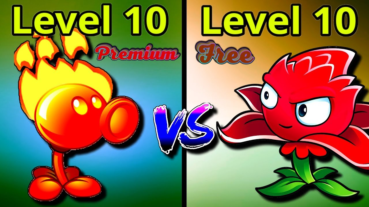 Plants Vs Zombies 2 Overview Fire Peashooter 10 Vs Red Stinger 10 Free Vs Premium Plants Pvz 2 Youtube