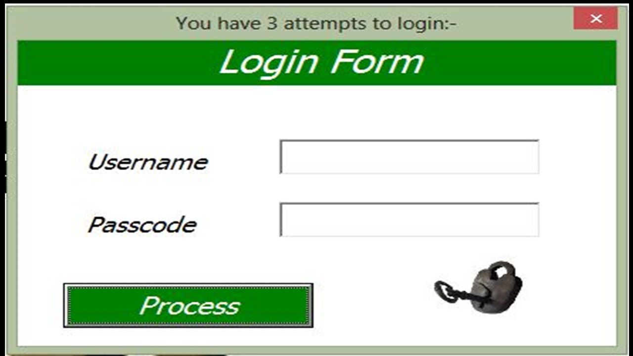excel userform login tutorial