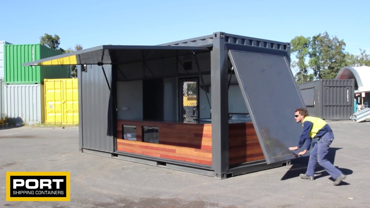 Best Kitchen Gallery: 20ft Shipping Container Cafe Youtube of 20ft Shipping Container on rachelxblog.com