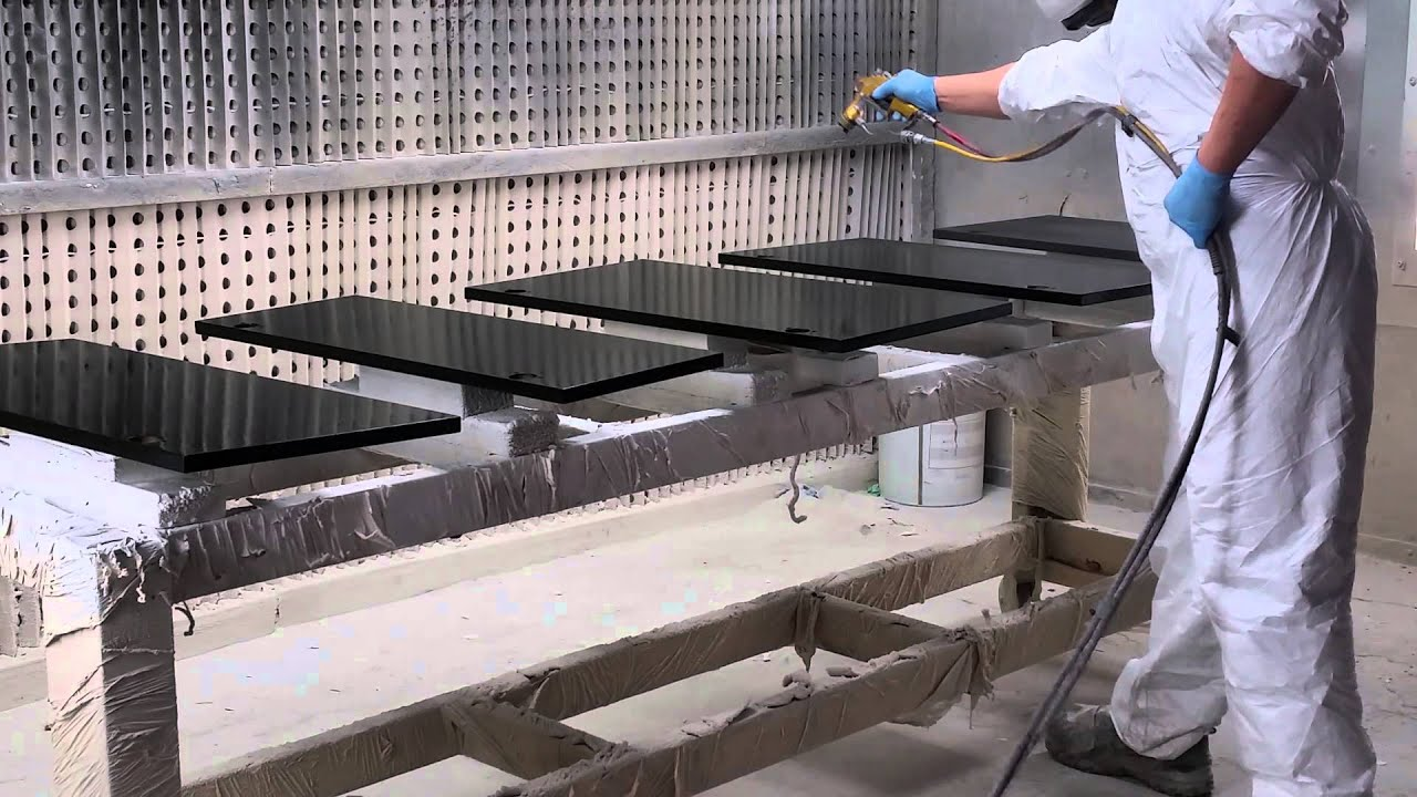 spraying kitchen cabinets remodles training to spray cabinet doors - youtube