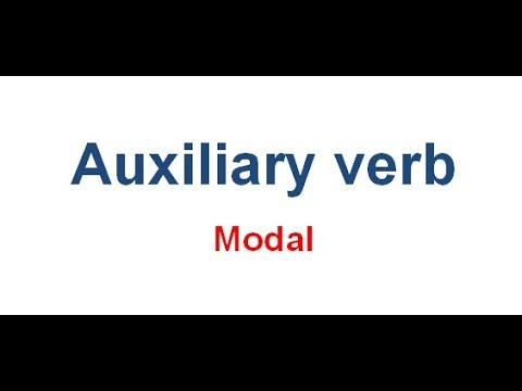 Modal Auxiliary Verb | Meaning of Modal | বাংলা লেকচার । Bangla Lecture