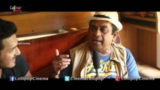 akhil interviews brahmanandam at akhil the power of jua movie shooting