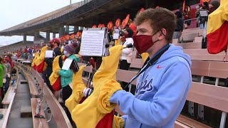 band playing with masks on