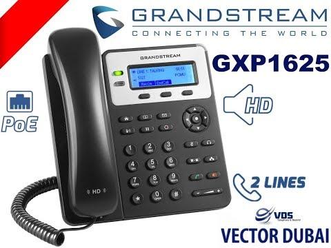 Grandstream GXP1625 Dubai - 2 Line , HD Codec, POE VoIP Phone UAE