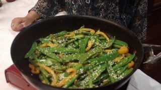 Stir Fried Sugar Snap Peas And Asparagus In Gujrati