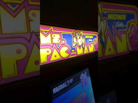 Arcade1up Light Up Marque for MsPacMan CounterCade from Thomas Reinhart