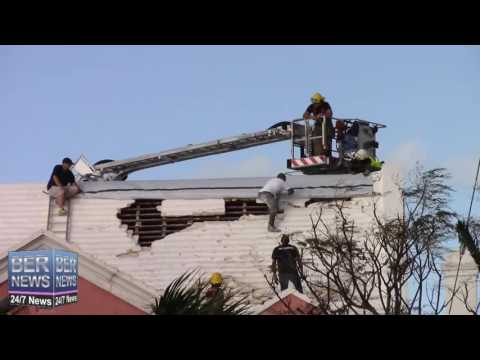 Bermuda Fire Service At Bethel AME Church Roof, October 15 2016