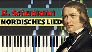 Nordisches Lied (Northern Song) - Robert Schumann [Piano Tutorial] (Synthesia)