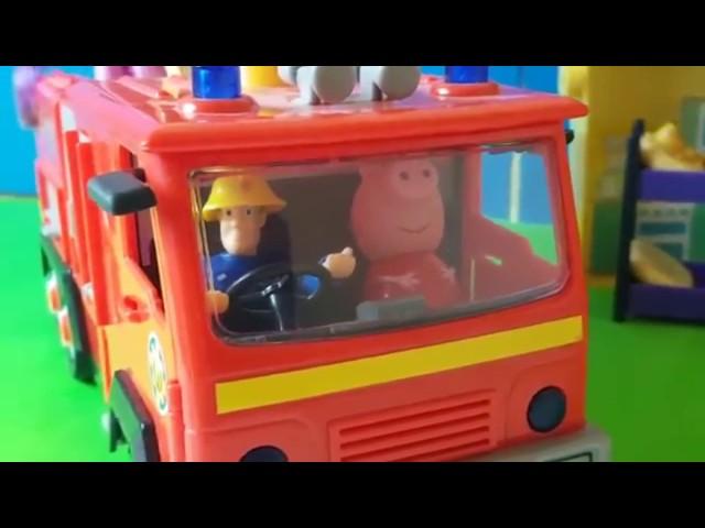Bajka Świnka Peppa po Polsku - Świnka Peppa dostała auto strażackie od Strażaka Sama My Little Pony