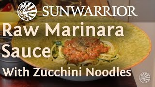 Marinara Sauce with Zucchini Noodles | Raw Recipe | Teri Gentes