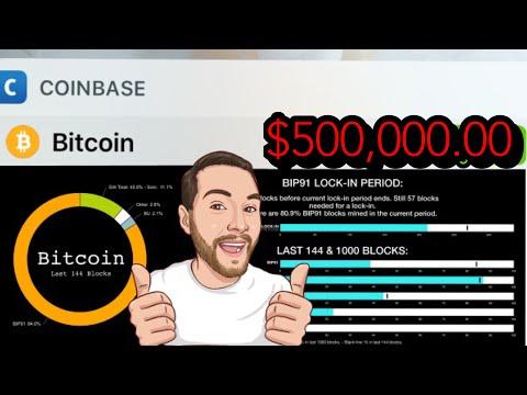$500,000.00 Bitcoin By 2020 BIP91 83%