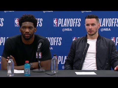 Joel Embiid & JJ Redick Postgame Interview | Heat vs Sixers - Game 5 | 2018 NBA Playoffs