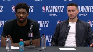 Joel Embiid & JJ Redick Postgame Interview | Heat vs Sixers - Game 5 | 2018 NBA Playoffs