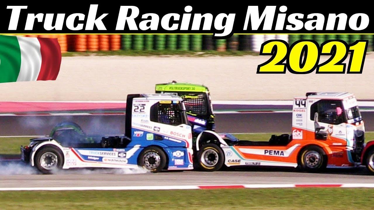 European Truck Racing Championship - Misano 2021 Highlights - Crashes, Powerslides, Smoke & More!