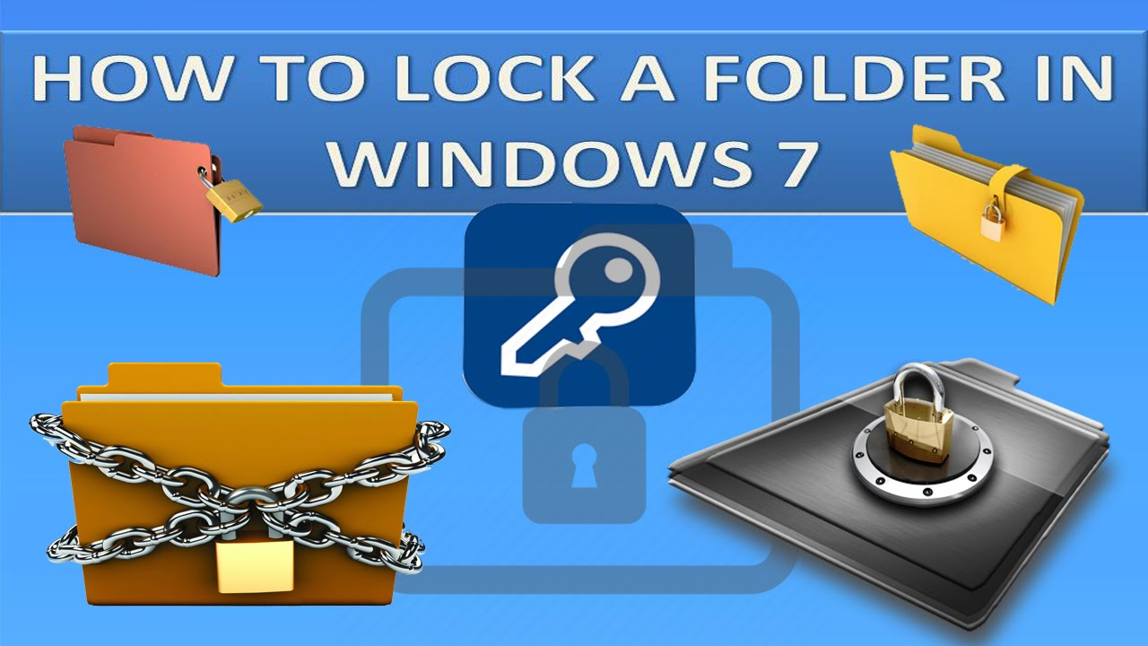 how to lock a folder with a password on windows 7 xp 8 vistas youtube. Black Bedroom Furniture Sets. Home Design Ideas