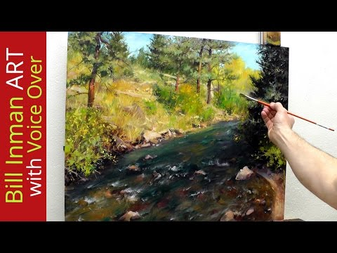 How to Paint a Colorado River and Trees [with Art Instruction] by Bill Inman - Fast Motion-