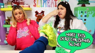TURN THIS STINKY SLIME INTO A CHRISTMAS SLIME! Slimeatory #615