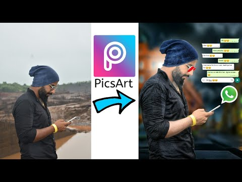 PicsArt Editing Tutorial | WhatsApp Chatting With Friend | WhatsApp Chat Editing