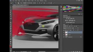 Car Sketch & Render Tutorial by Swaroop roy