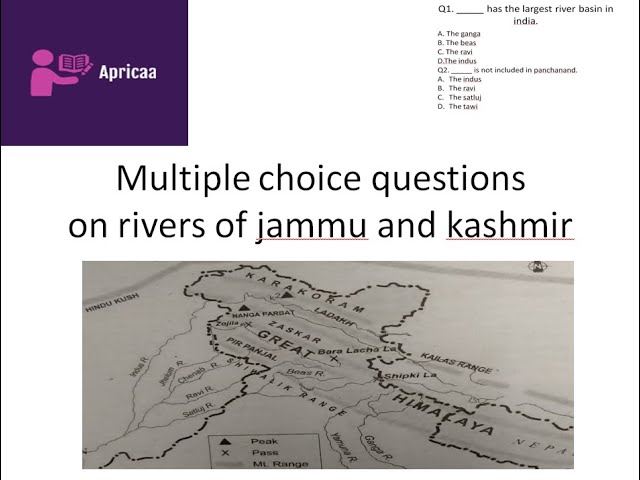 Multiple Choice Question On Rivers Of Jammu And Kashmir Youtube