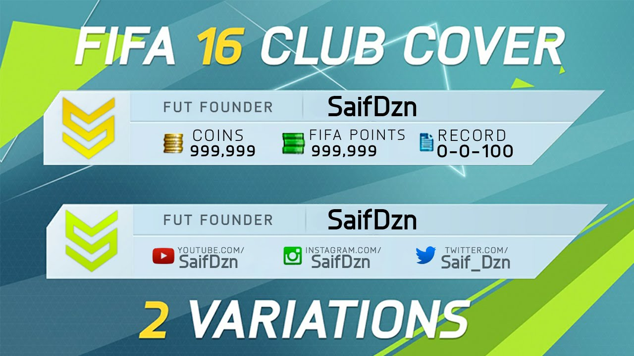 FIFA 16 Custom Cover Template   HD   Free Download - YouTube