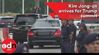Kim Jong-un arrives in Singapore ahead of Trump meeting