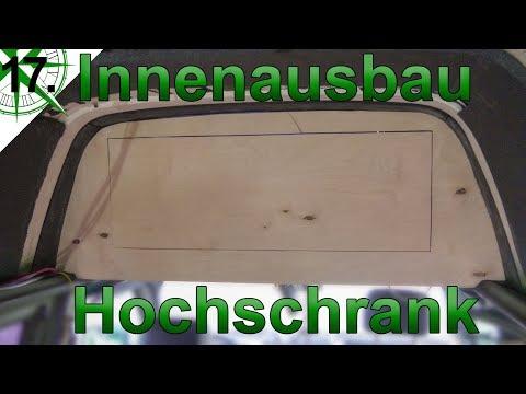 Innenausbau   Hochschrank mit Gasdruckfeder   vom VW T4 Syncro Transporter zum Camper   # 17.