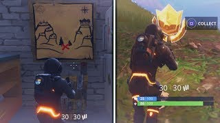 "Fortnite ""Snobby Shores Treasure Map"" Location Week 3 Battle Pass Challenge Fortnite Battle Royale"