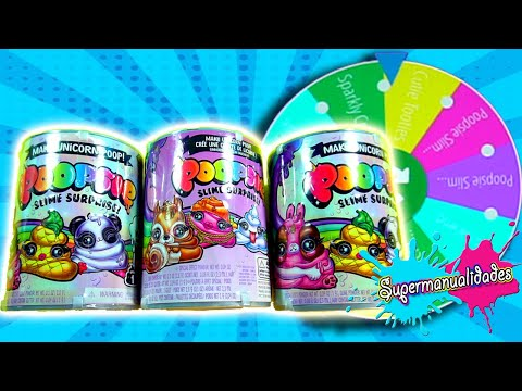 Roulette of Poopsie Slime and Challenges (with my brother)  - Supermanualidades