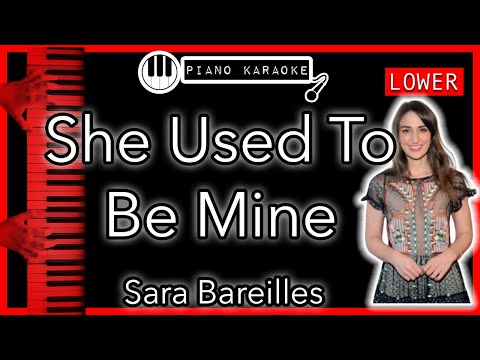 She Used To Be Mine - Sara Bareilles (from The Musical Waitress) - Piano Karaoke - LOWER