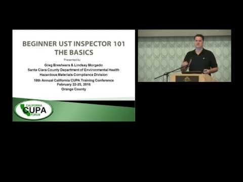 BEGINNER UST INSPECTOR 101 - BASICS