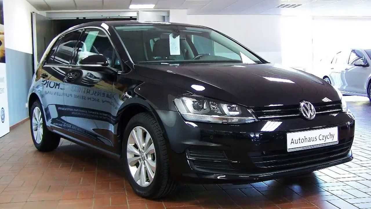 volkswagen golf vii 1 6 tdi dsg comfortline dw090744 deep black autohaus czychy youtube. Black Bedroom Furniture Sets. Home Design Ideas
