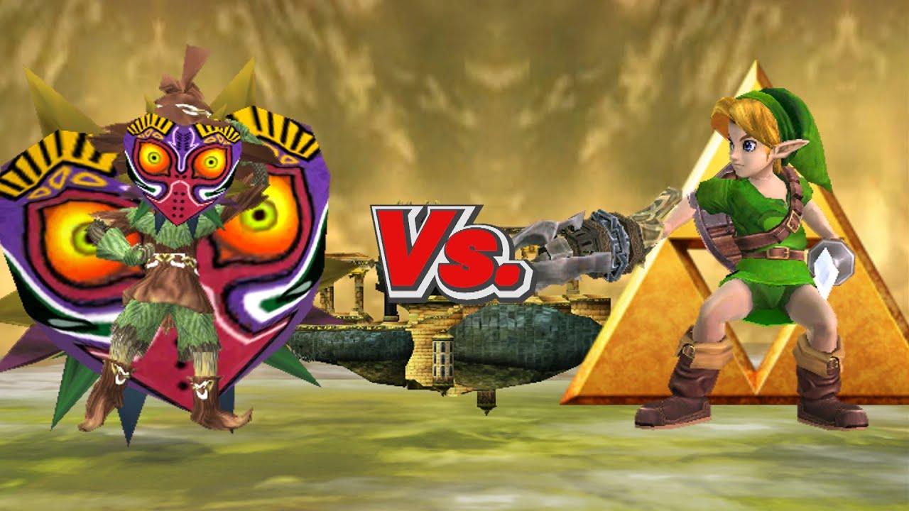 SSBB Wii U Modded Battles Young Link Vs Skull Kid