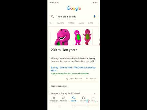 How old is Barney?