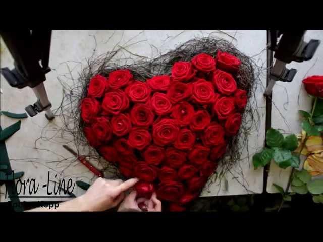 Wie ein Rosenherz in Zeitraffer entsteht (Making of)