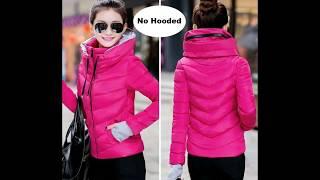 2018-2019 Best new ladies fashion coat winter jacket women outerwear short wadded jacket