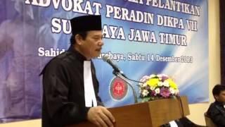 Pelantikan dan Penyumpahan Advokat PERADIN Jawa Timur Angka