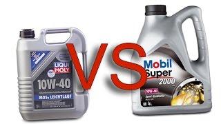 Liqui Moly MoS2 10w40 vs Mobil 1 2000 x1 10w40 test
