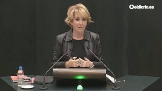 Esperanza Aguirre intenta explicar el tuit del concejal del PP sobre los refugiados