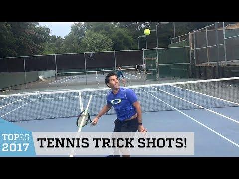 Amazing Tennis Trick Shots   Top 25 of 2017