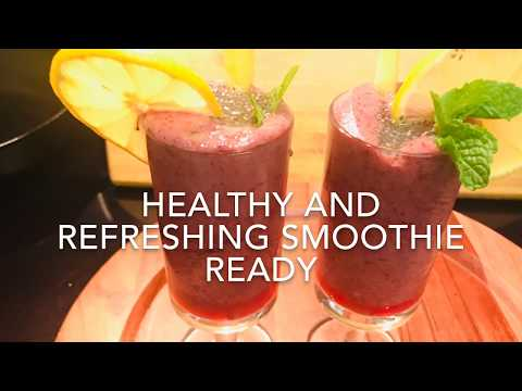 Blueberry Pineapple Smoothie | Healthy And Refreshing Smoothie