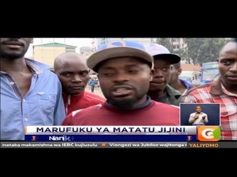 Serikali ya kaunti ya Nairobi yakataa matatu ziingie katikati mwa jiji