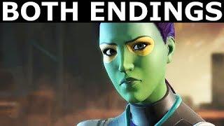 Both Gamora Endings - Marvel