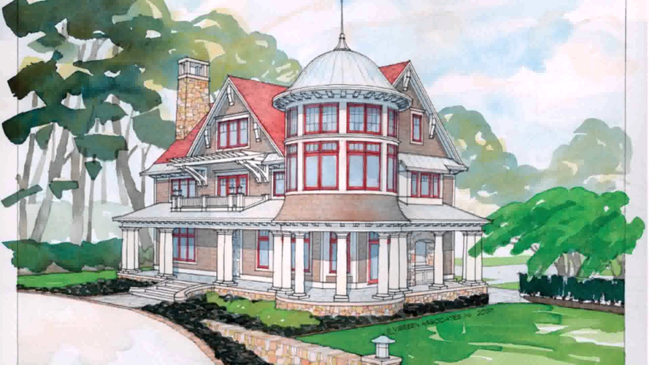 Queen anne style house plans youtube for Queen anne style house plans