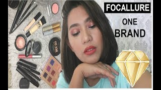 FOCALLURE FULL FACE ONE BRAND MAKEUP LOOK + 3 LIP OPTIONS